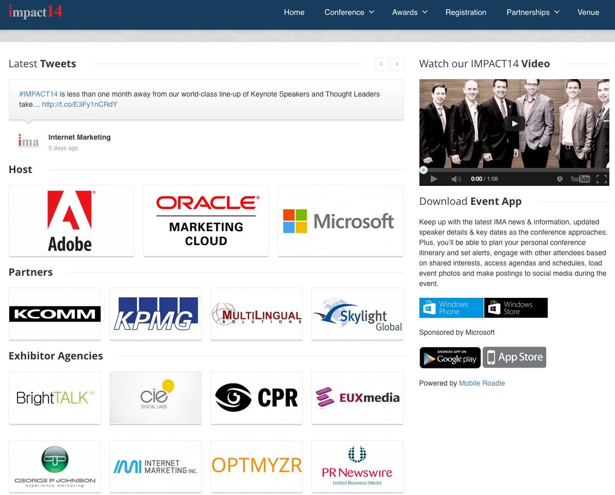 Optmyzr Sponsors IMA 2014