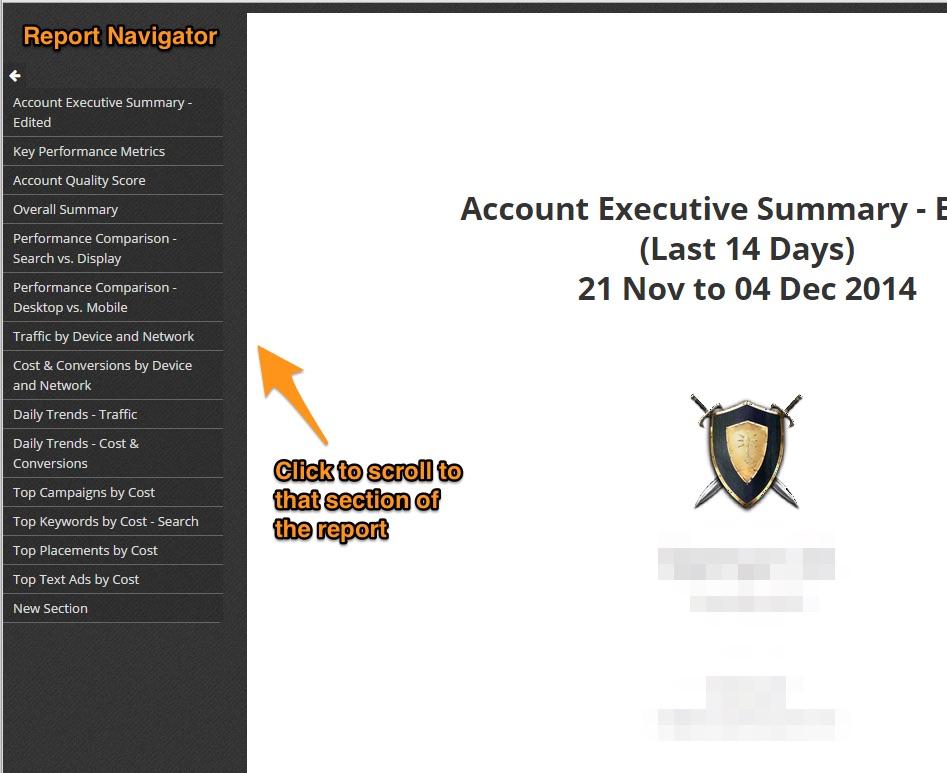 ReportNavigator - screenshot
