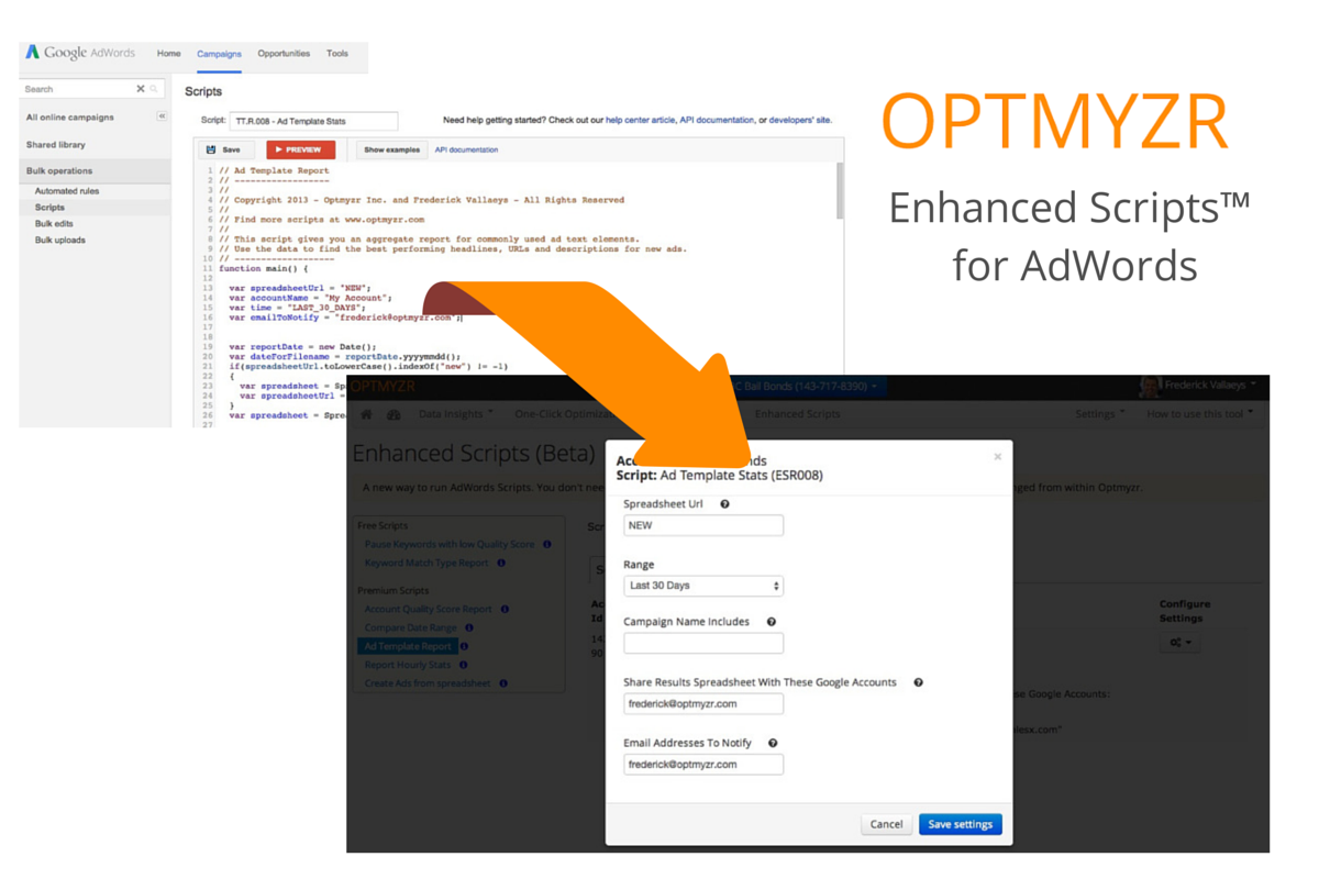 Enhanced Scripts for AdWords