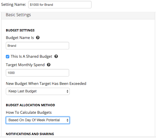 Use this script to automatically update daily budgets to help reach a target spend by the end of the month.